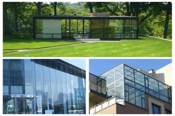 How thick is a glass curtain wall?